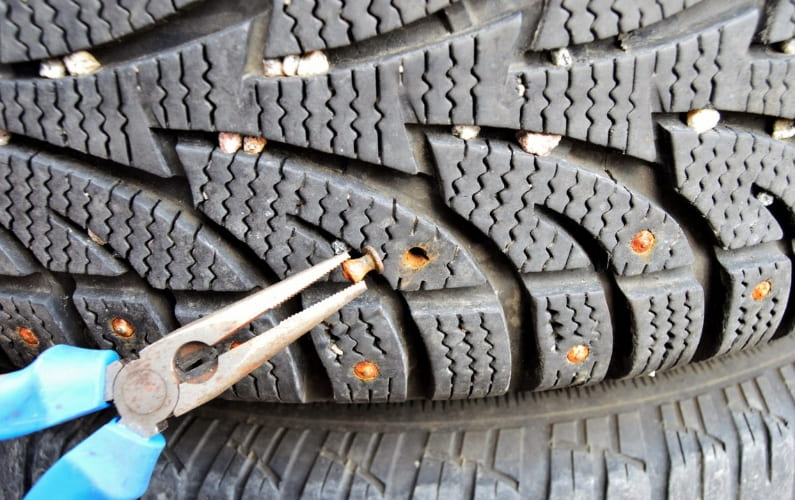 How to Remove Studs from Tires